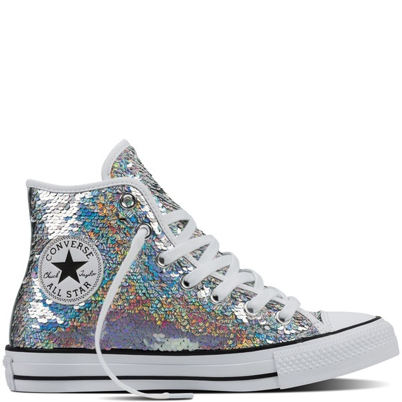 new concept 88421 29aa7 ... Converse all star chuck Taylor Sequin Sneakers ...